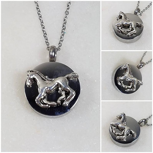 Memorial Ash Stainless Steel Cremation Horse Urn Necklace/Cremation Pendant/Crem