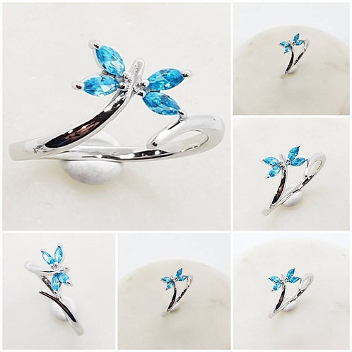 Studiodragonfly19 Memorial Ash Butterfly Marquis Ring/Memorial Ash Jewelry Pet