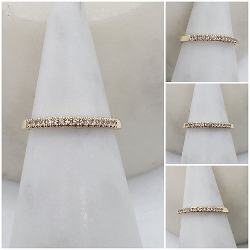 Studiodragonfly19 Memorial Ash Diamond Pave 14k Gold