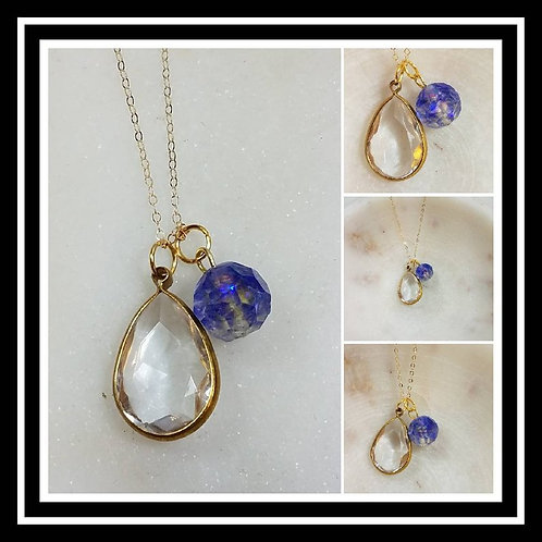 Memorial Ash Cremation Fsceted Bead Crystal Pendant Necklace/Cremation Pendant/P