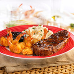 Fridays Signature NY Strip Steak & Shrimp
