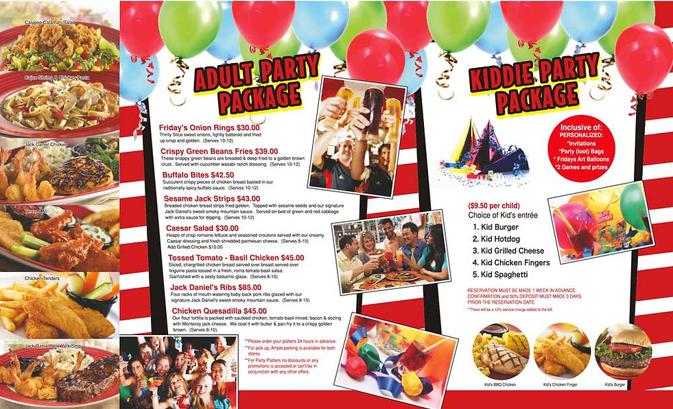TGIF Guam Party Packages