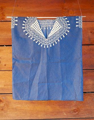 Blusa Bordada de Algodón