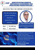 Demystifying Genetic Metabolic Disorders for Practicing Paediatrician...