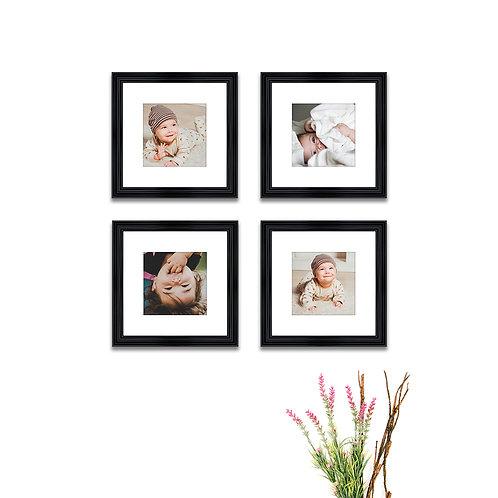 Pure Wood Gallery Wall - Set of 4 Custom Prints & Frames