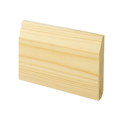 Bullnose - Chamfered Skirting 4""