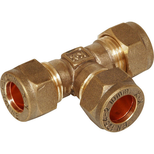Compression Equal Tee 15mm