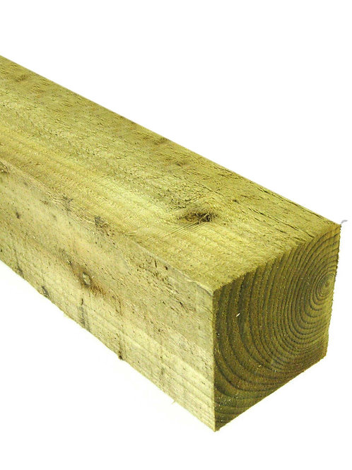 Treated 4x4(100x100mm) Fence Post 3m Treated Green