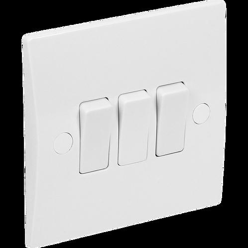 Plate Switch 3G 10A 2way