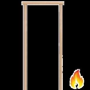 """100mm (4"""") Fire Door Frame 100x50mm"""