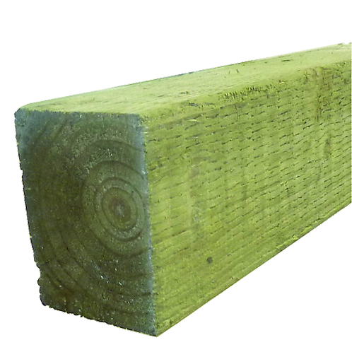 Treated 4x4 Fence Post @ 3m (Green)