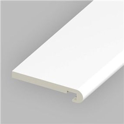 "150mm (6"") Bullnose Fascia Board (18mm) 5m White"
