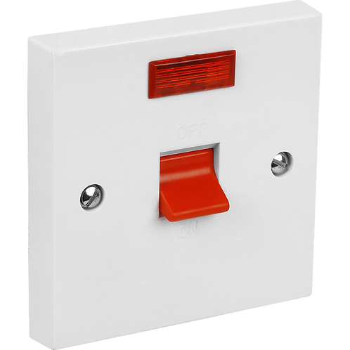 Cooker Switch 45A 1G & Neon