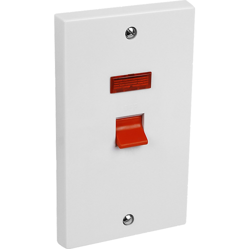 Cooker Switch 45A 2G & Neon