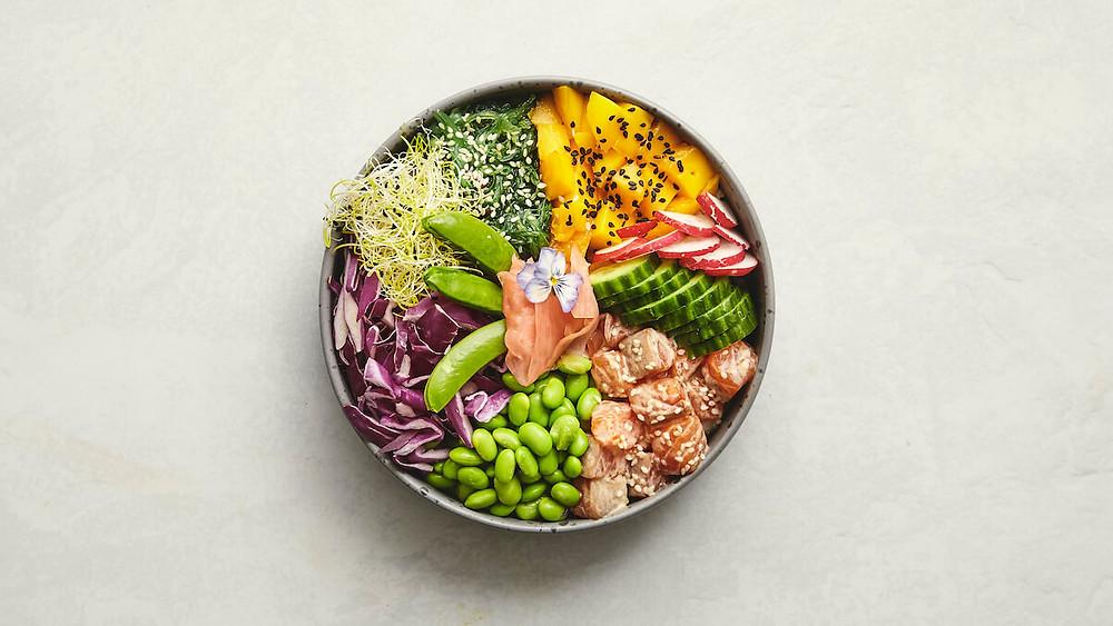 A Photo Of Salmon Poke Bowl