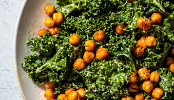 Crispy Chickpea and Vegan Kale