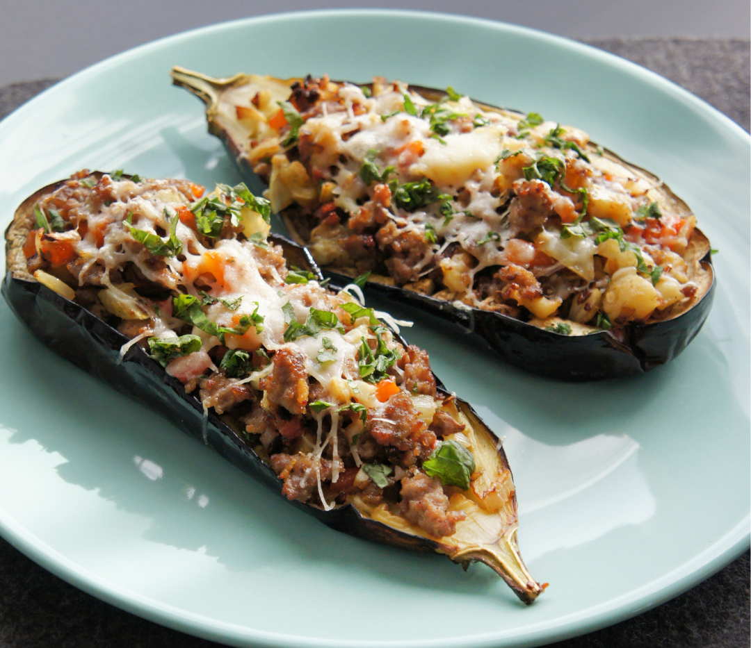 Chermoula Aubergine with Bulger and Plan