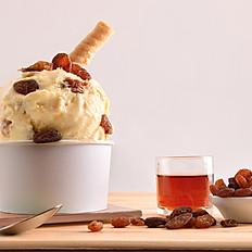 Glace a l'italienne maison vanille, rhum  raisin