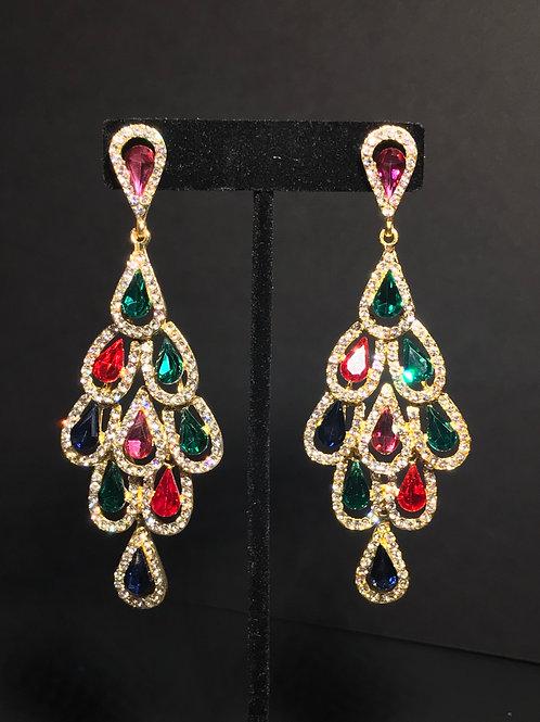 Coloured Diamant Earrings