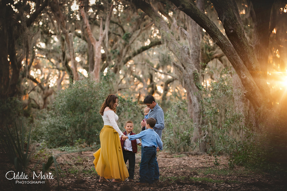Forest Mini Session Orlando Florida Photos - Addie Marie Photography