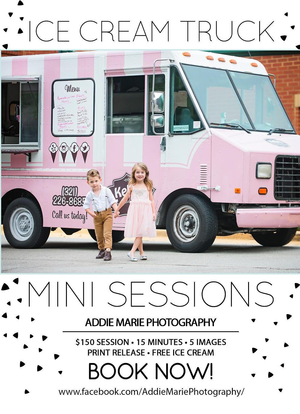 Ice Cream Truck Mini Session Orlando Photo