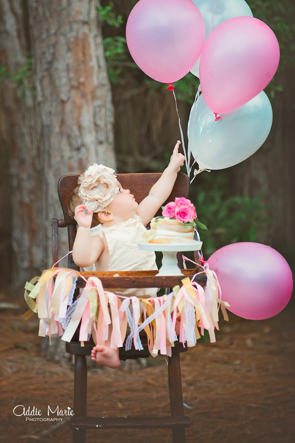 Outdoor Smash Cake - Vintage Romantic Photo shoot, field, flower tent, family session, Orlando Photographer, Addie Marie Photography