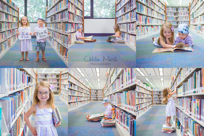 Back to School Library Photo Shoot - Orlando Photographer