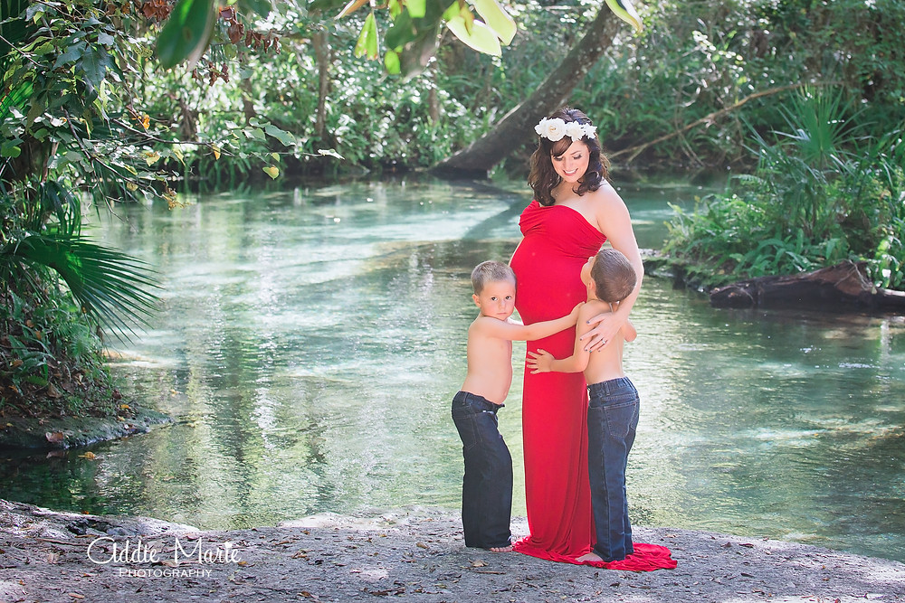 ADDIE MARIE PHOTOGRAPHY - Orlando - Springs Family Maternity Session