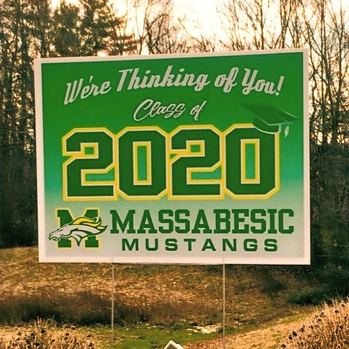 Massabesic Class of 2020 sign