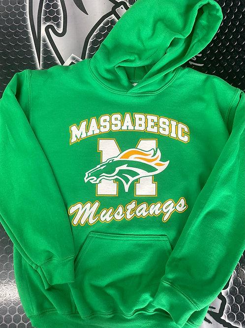 Massabesic Mustangs hooded sweatshirt