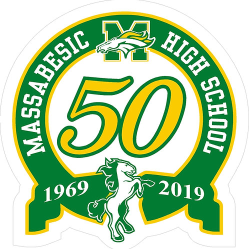 50th Anniversary Decal 3.5""