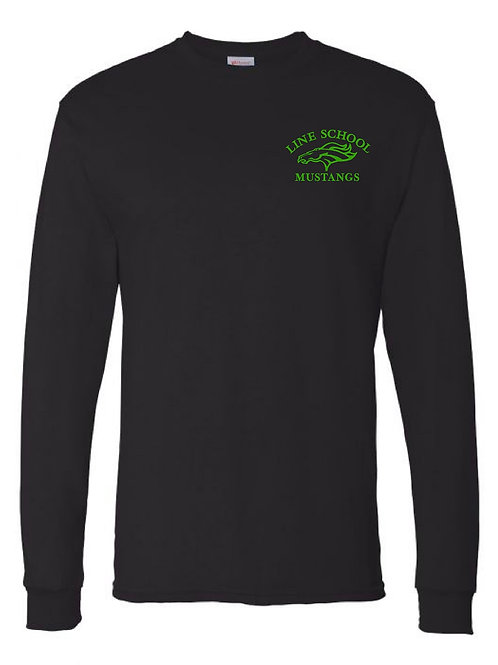Line School Long Sleeve Cotton Tee