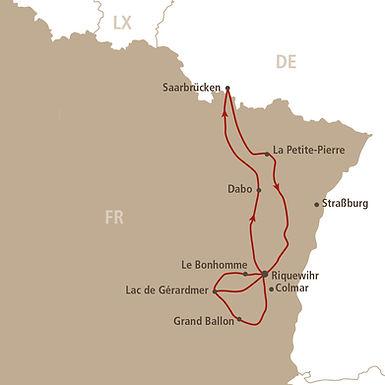 Streckenverlauf Elsass-Vogesen