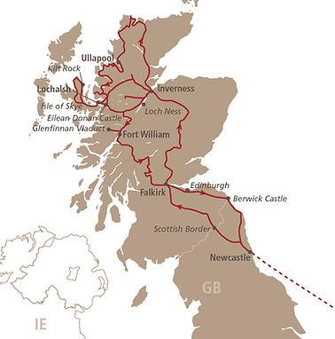 Pegasus Schottland Route 2021