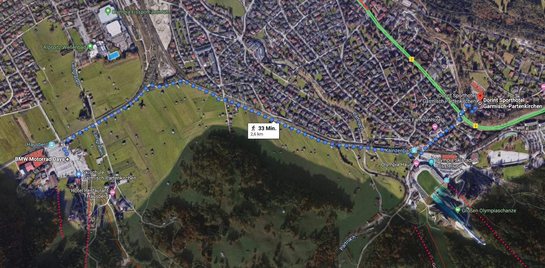 Garmisch Biker-Days Fussweg Dorint Sport