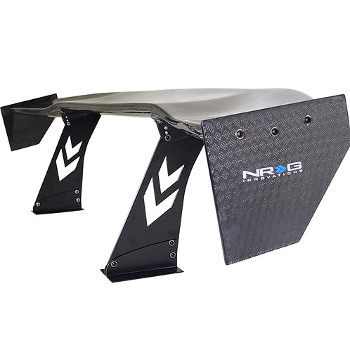 """Universal 69"""" Racing Wing in Carbon Fiber Diamond Weave by NRG"""