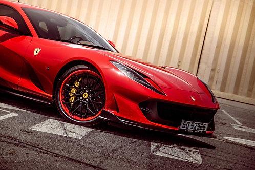 Ferrari 812 Headlight Covers in Carbon Fiber by 1016 Industries