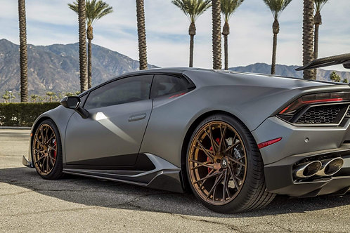 Lamborghini Huracan LP580 Side Skirts in Carbon Fiber by 1016 Industries
