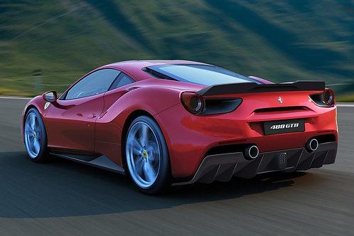 Ferrari 488 Rear Diffuser Add-on Carbon Fiber by 1016 Industries