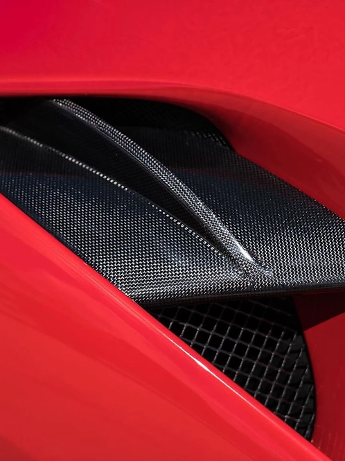 Ferrari 488 Side Intake Vents in Carbon Fiber by 1016 Industries