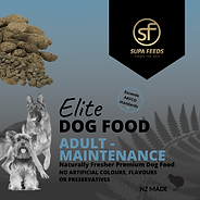 Elite Dog Food Adult Maintenance, Elite Dog Food Maintenance, Maintenance dog food nz, supa feeds dog food