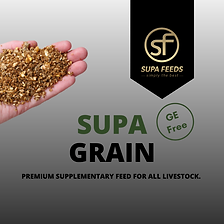 Supa Grain, 14% protein feed, supplementary feed for my animas