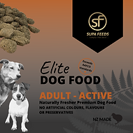 Elite Dog Food Adult Active, working dog food, nz made dog food