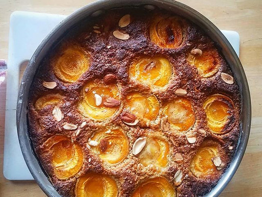 Olive Oil Apricot Fry Pan Cake