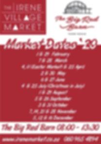 Irene Village Market dates 2020 A5 (A).j