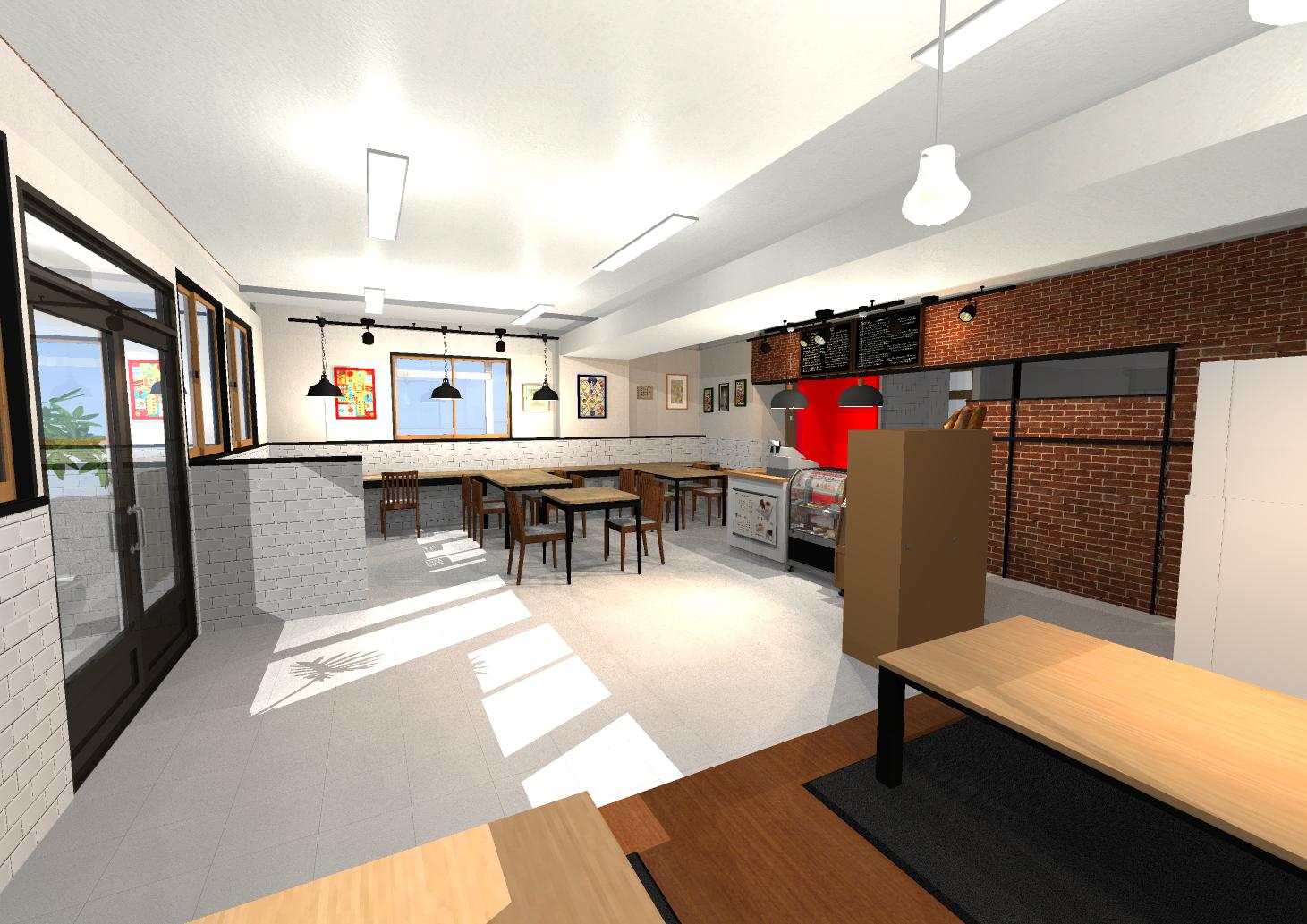 リフォームプラン(提案)3Dパース右からの写真