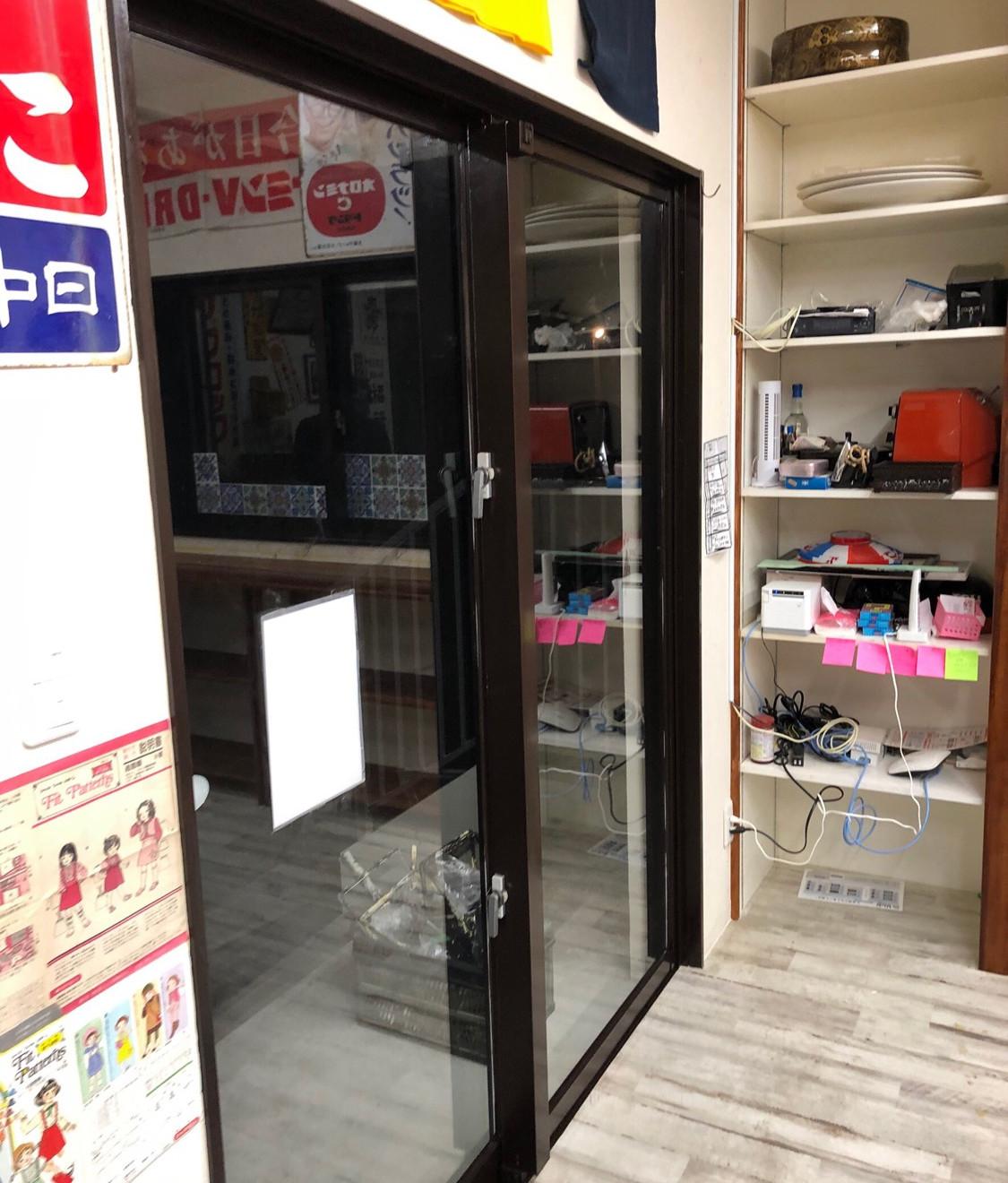 リフォーム中写真(店舗入口)