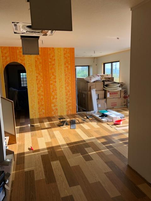 1階床施工写真