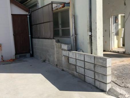 リフォーム施工事例☆ブロック壁プチリフォーム☆
