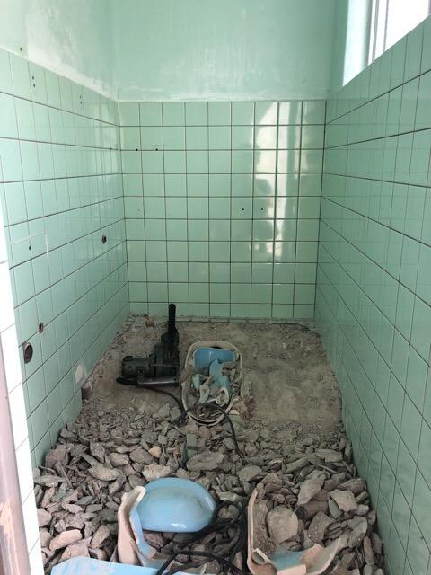 トイレ解体中写真